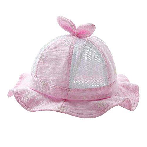Cap belle plage Pliable Chapeau de Nice Cadeau Bébé Chapeau Coton Sunhat été Chapeau rose