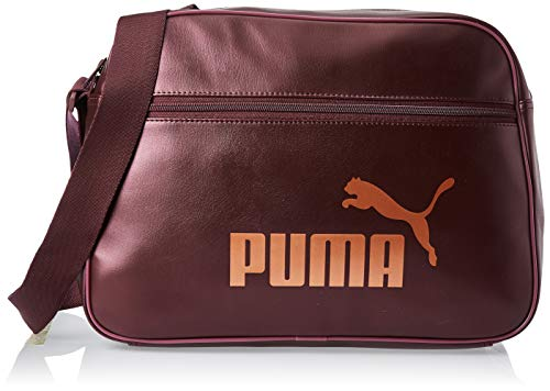 PUMA WMN Core Up Reporter Bandolera, Mujeres, Vineyard Wine-Metallic, OSFA