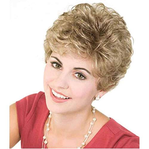 Women's Supernatural Short Wig Bobo Head Bob Style Stijlvolle Krullend Golvend Synthetische Hittebestendige Pruiken