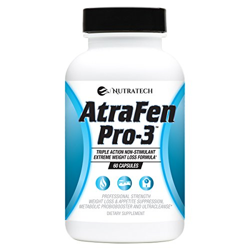 Nutratech Atrafen Pro-3 in 1 Stimulant Free Fat Burner Diet Pill Blend Provides Weight Loss and Appetite Suppression, A Daily Dose of Probiotics for Digestive Health, and an Body Detox and Cleanse.