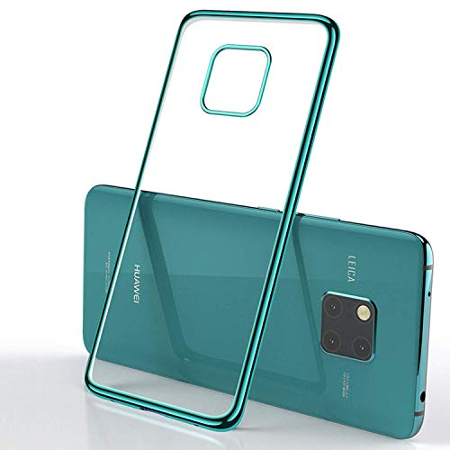 Superyong Funda Huawei Mate 20 Pro,Huawei Mate 20 Pro Case diseño Especial único Electroplating Case Slim Clear Soft TPU para teléfono Huawei Mate 20 Pro-Verde