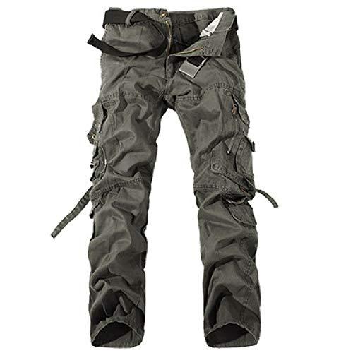 Pantalones Cargo con Cremallera con Costura de Personalidad para Hombre Color sólido Camping al Aire Libre Fitness Ocio Simplicidad Pantalones básicos 34