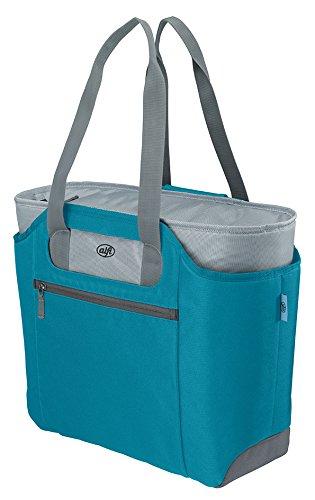 alfi Thermo-Kühltasche, isoBag mittel 23 Liter - Isolierte Einkaufstasche aus Polyester, türkies blau 57 x 38 x 50 cm - 2in1, Isoliertasche inkl. extra Tragetasche - 0007.253.812