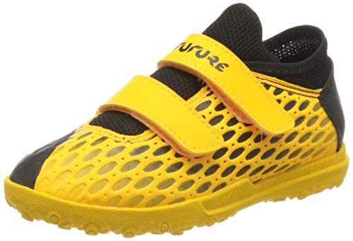 PUMA Unisex-Kinder Future 5.4 Tt V Jr Botas de fútbol, Gelb (Ultra Yellow Black), 28 EU