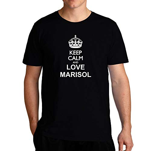 Eddany Keep Calm and Love Marisol T-Shirt L Black