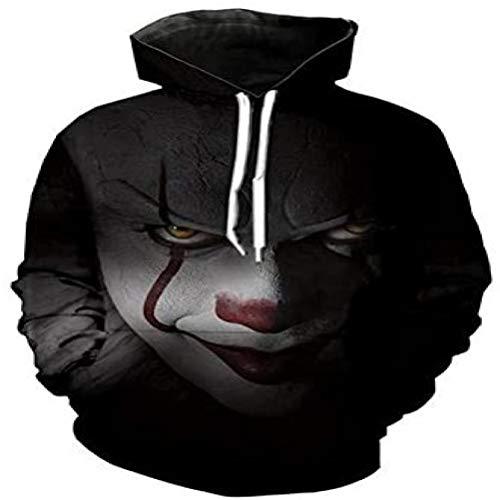 Horror Clown Hoodie 3d Skull Sweatshirt EUR Plus Size COSPLAY Sportbekleidung Trainingsanzug Herren Damen Unisex Pullover, YH 00535, L