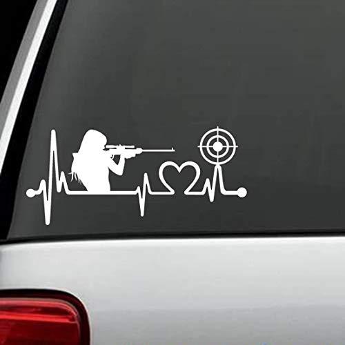 DKISEE Calcomanía con texto en inglés 'Gun Girl Target Practice Heartbeat Lifeline' K