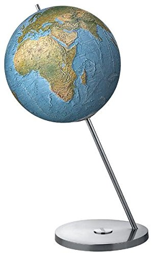 Columbus Magnum 60: 60 cm Durchmesser, vegetationsgeographisch, beleuchtbar Edelstahlplattet, Metallstrebe aus Edelstahl