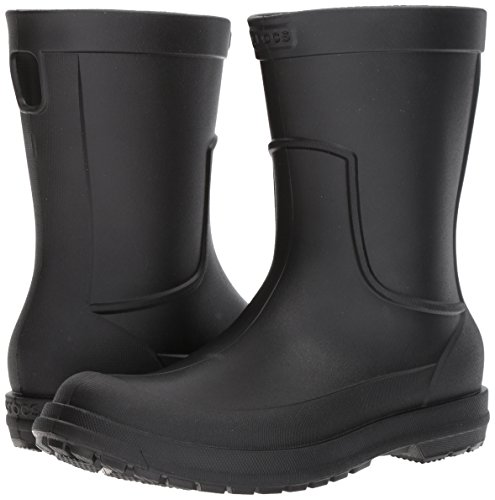 Crocs Men's AllCast M Rain Boot ,Black/Black, 10 M US