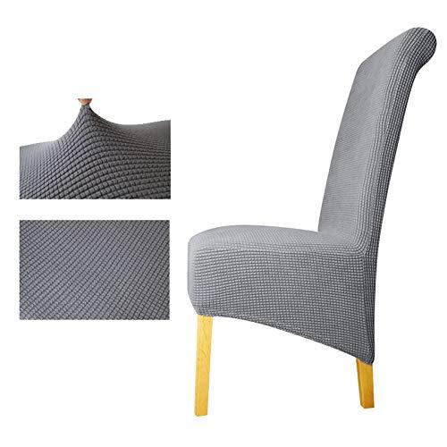 PPOOLLKKMM Tissu Polaire Polaire XL Taille Dos Long Couverture de Chaise à Carreaux Housses de siège Housses de Chaise hôtel fête Banquet