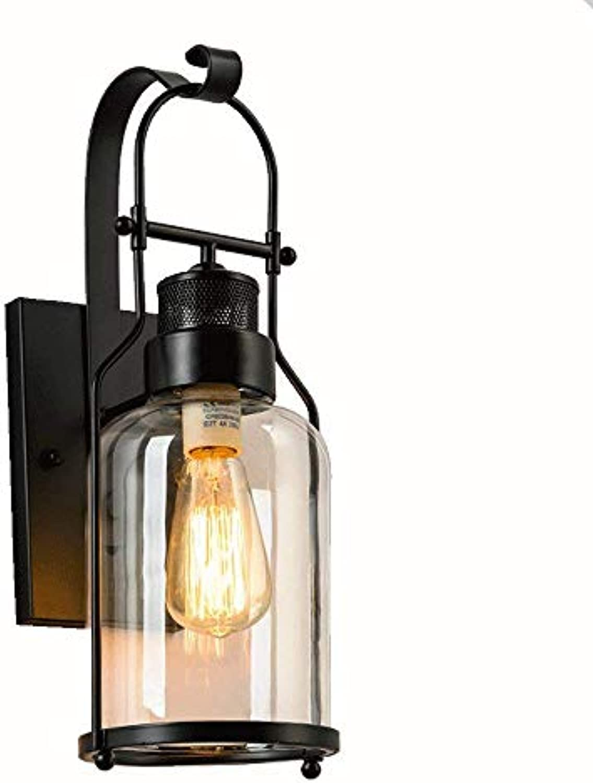 Wandlampe Antik Wandleuchte Vintage Metall Wandlampe Retro Glas Wandlampe für Dachboden, Terrasse, Restaurant, Café, Wohnzimmer