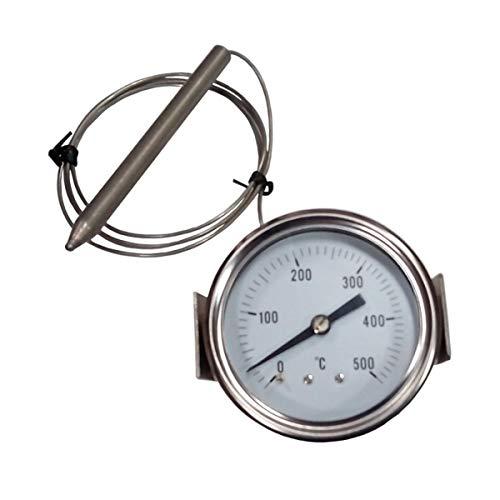 REDPOINT SPARES PiROMETRO/termómetro 0-500° – Ø 60 mm para hornos pizzas, barbacoas, hornos de leña, etc.