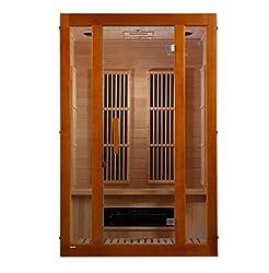 Maxxus Aspen Dual Tech 2 Person Low EMF FAR Infrared Sauna Canadian Hemlock