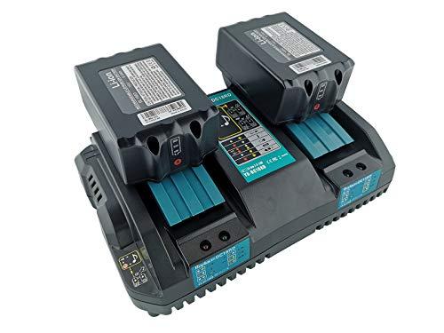 FengBP - Cargador rápido de repuesto Makita DC 18 RD con 2 baterías 18 V 6,0 Ah para Makita radio DMR100 DMR110 DMR103B BMR104 BMR103 DMR104 DMR105 DMR106 DMR109 DMR108 DMR107 6000mAh