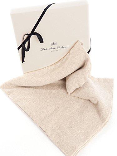 Dalle Piane Cashmere - Zwei Farben Babydecke aus 100% Kaschmir - Farbe: Beige