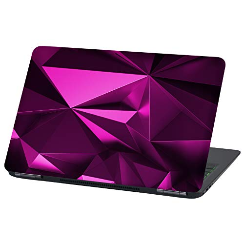 Laptop Folie Cover Abstrakt Klebefolie Notebook Aufkleber Schutzhülle selbstklebend Vinyl Skin Sticker (17 Zoll, LP54 Polygon Pink)