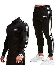 Mannen Trainingspak Joggingpak Sport Pak Fitness, Outdoor Sweatshirt Pak, Print Capuchon Trui MMA Fitness UFC Print Top En Broek