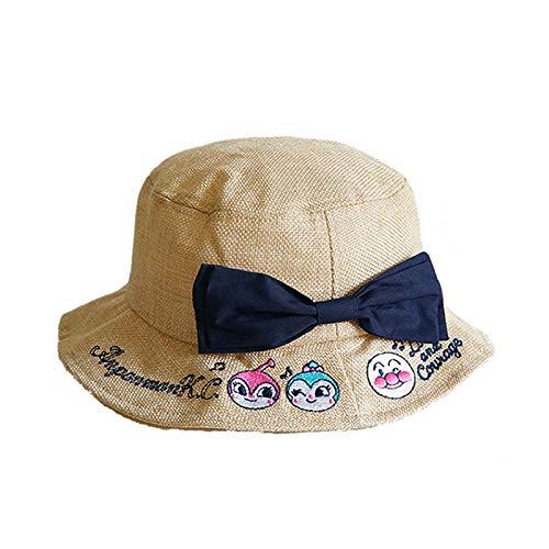 HGOO 日本アンパンマン 旅行 UVカット カジュアル ゴルフ 日よけ帽 麦わら帽子 フィッシャーマンズハット 赤ちゃんの日よけ帽 子供の帽子 女の子の王女の帽子