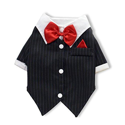 PETCUTE Trajes de Perro la Camisa Traje de Smoking Vestido de la Princesa del Animal Doméstico de la Capa del Falda del Vestido Navidad
