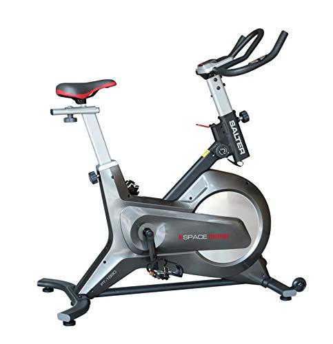 SALTER Bicicleta Indoor Space PT-1890 Freno magnético, Volante de inercia Equivalente a 16kg, transmisión por Correa Poli V de Caucho, Uso doméstico sin limite de Horas de Uso.