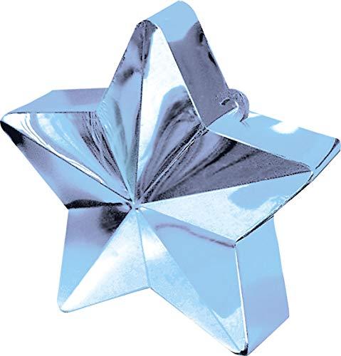 amscan Pesa para Globos en Forma de Estrella Color Celeste - Unidad