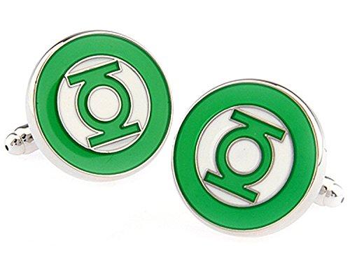 Herren Hochzeit Shirt Surper Hero Manschettenknöpfe (Green Lantern)