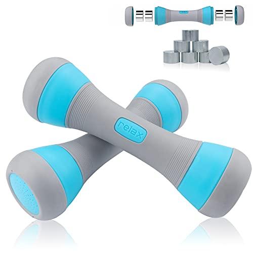 MEckily Hanteln Set Kurzhanteln Verstellbar, Fitness Gewichte Hantel mit Rutschfester Gummi, Hanteln für Damen und Männer, Ergonomisch Dumbbells für Krafttraining Fitnesstraining Muskeltraining