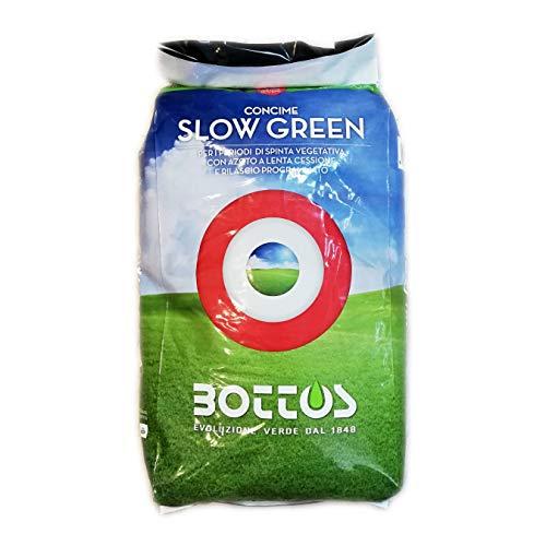 Concime Fertilizzante per Prato Bottos Slow Green 22-5-10 + 2 MgO - 25 Kg