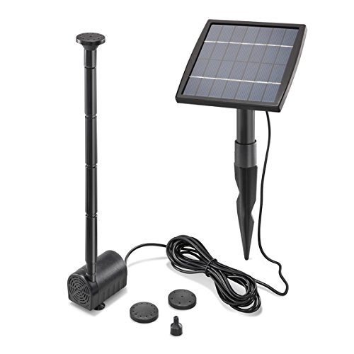 Solar Teichpumpe 1,5 Watt Solarmodul 140 l/h Förderleistung 80 cm Förderhöhe esotec pro Komplettset Gartenteich, 101905