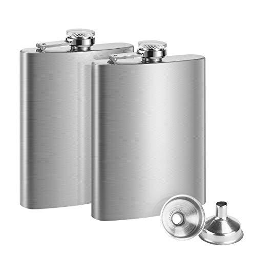 Rosenice - Fiaschetta Alcool in acciaio inossidabile, 200 ml, colore: argento