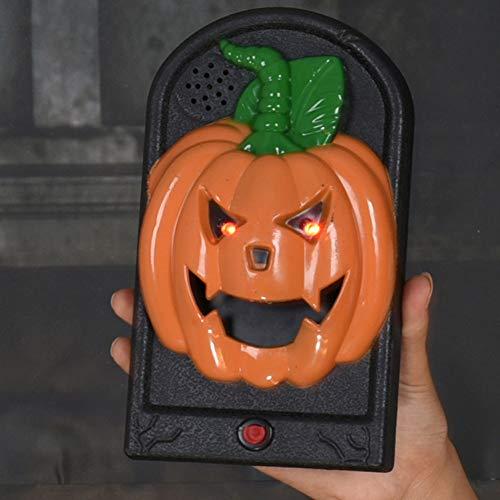 YHNSXZ Decoración de Fiesta de Halloween Timbre Pumpink Calavera Campana Accesorios de...