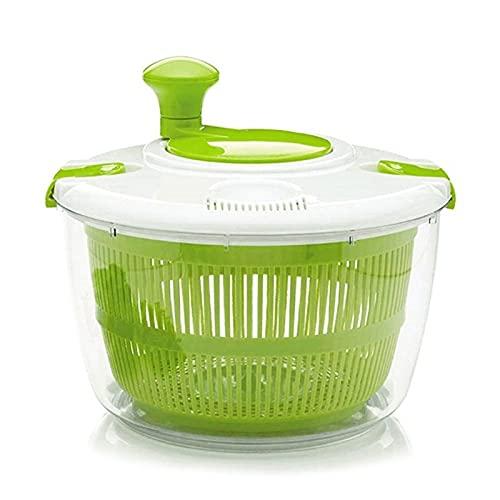 JINQIANSHANGMAO Insalata Insalata di Verdure Spinner Deidrator Lavatrice Asciugatrice Pulire Il Contenitore della Ciotola del Cestino della Serratura (Color : Green)