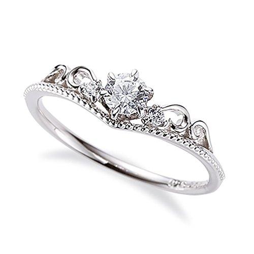 Tiara estilo platino diamante anillo adornado únicamente con 1/4 quilates de diamantes blancos brillantes_9,5