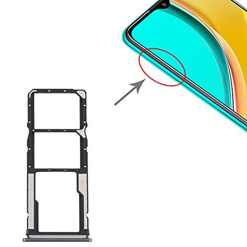 Carro bandeja bandeja soporte porta tarjeta nano SIM 1 + SIM 2 + ranura para tarjeta de memoria Micro SD compatible con Xiaomi Redmi 9 (6,53 pulgadas), color negro