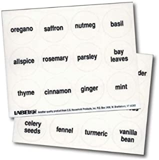 Best spice jar labels clear Reviews
