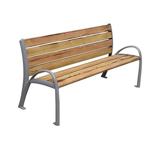 ZXF- Parque Respaldo para Sillas Al Aire Libre Ocio Comunitario Banco Doble para Exteriores Madera Anticorrosiva, para El Porche Delantero, Patio, Terraza, Balcón O Patio Trasero