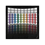 RAUP Satin Napkins Set of 6, Vector Test Tubes On LCD TV,Square Printed Party & Dinner Cloth Napkins,20' X 20'