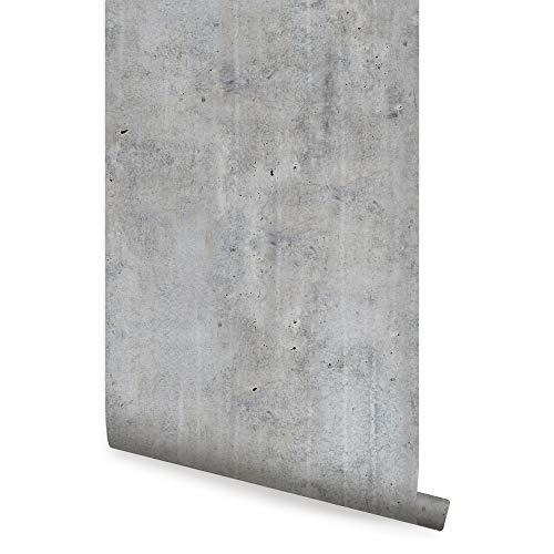 Cement Concrete Peel and Stick Wallpaper Version 3 (2 ft x 4 ft - Single Sheet, Dark Grey)