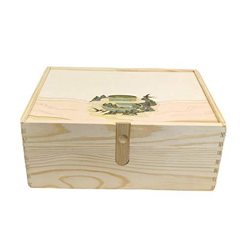 Bolsa de té Caddy Box Organizer Bolsa de té de Madera Organizador Caja, organizadores y Almacenamiento, Caja de té Organizador de cajones Almacenamiento (Color : Beige, Size : M)