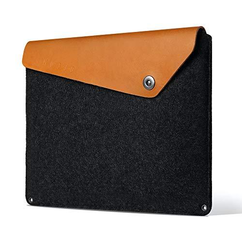 Mujjo Sleeve for new MacBook Pro 16-inch, 15' MacBook Pro (4th Gen) | Anti-Peel Felt, Vegetable Tanned Leather Flap, Storage, Card Pocket (Tan)