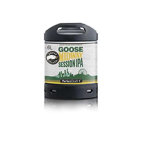 Bier PerfectDraft 1 x 6-Liter Fass Goose Island Midway IPA Bier - Session IPA. Zapfanlage für Zuhause. Inklusive 5euros Pfand.