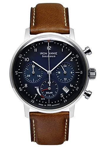 Iron Annie Solar Herrenuhr Chronograph Bauhaus Lederband braun 5086-3