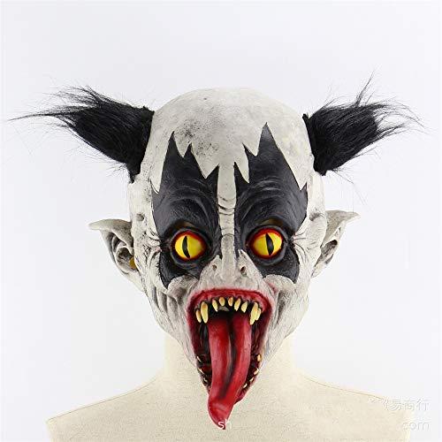 ARTOOL Festival per Feste di Halloween Maschera di Lattice Horrifying Maschera Maschera in Lattice con Il Cappello per Il Travestimento di Halloween Costume