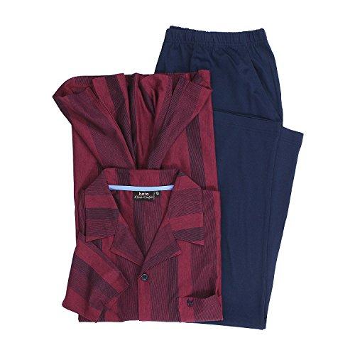 hajo Pyjama \'Klima-Komfort\' in Bordeaux Übergröße 7XL, Größe:4XL