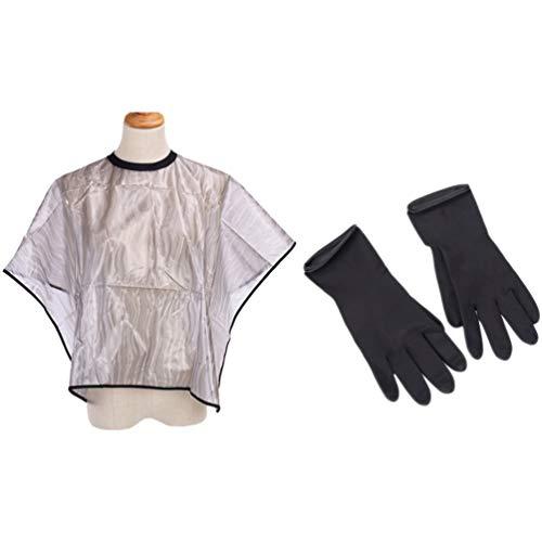 Beaupretty Korte Salon Haar Cape en Handschoenen Set Salon Cape en Handschoenen Haarkleuring Tools Voor Man en Vrouw