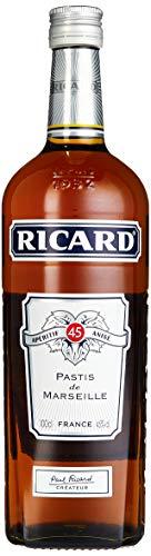 Ricard Pastis / Französischer Likör mit Sternanis, erfrischendem Kräuteraroma & Süßholzsaft / Spirituose mit universeller Mixbarkeit / 1 x 1 L