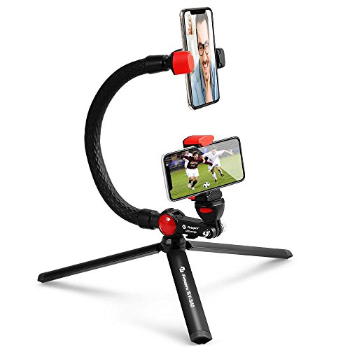 Fotopro Mini Monopié, Selfie Stick Flexible, Mini Trípode Portátilcon Remoto Bluetooth para...