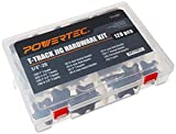 POWERTEC 71127 Jig and Fixture T-Track Hardware Kit w/Knobs and 1/4'-20 Threads | 128 Piece Set