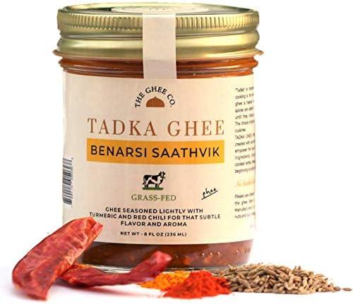 Tadka Ghee Benarasi Saathvik Flavored Ghee by The Ghee Co Grass Fed Ghee 8 ounces No Salt No product image