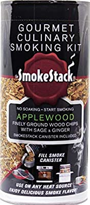 Smokestack Finely Ground Wood Chips and Smoker Box– Evenly Adds Smoke Flavor with No Pre Soaking Needed | Works with Any Heat Source Including Grills, Stovetops, and Ovens